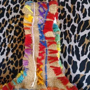 Vintage Bags - 1960s Boho Burning Man Rainbow Satchel Purse